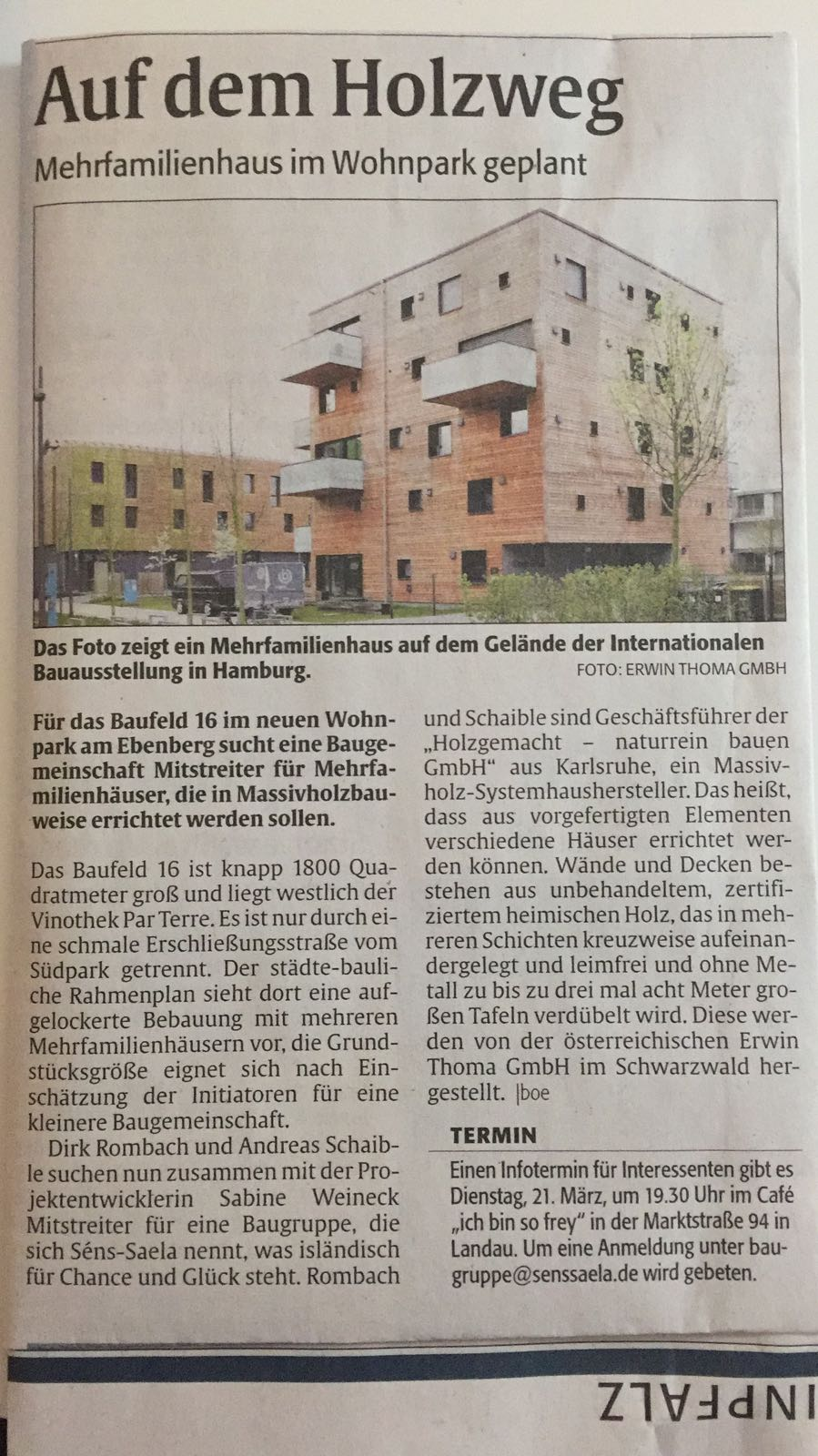 holzgemacht-zeitungsartikel-rheinpfalz-wohnpark-ebenberg