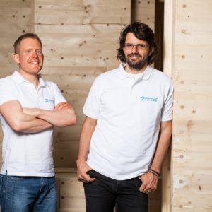Team holzgemacht-Andreas Schaible und Dirk Rombach