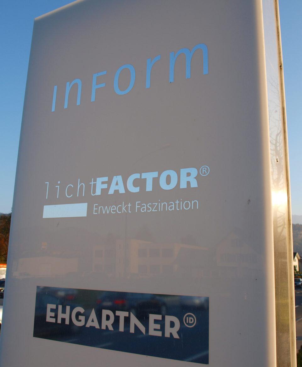 lichtfactor Firmenschild