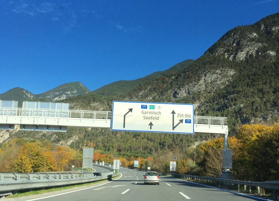 Autobahn Richtung Garmisch