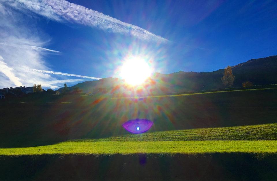 Sonnenaufgang bei Sistrans in Tirol